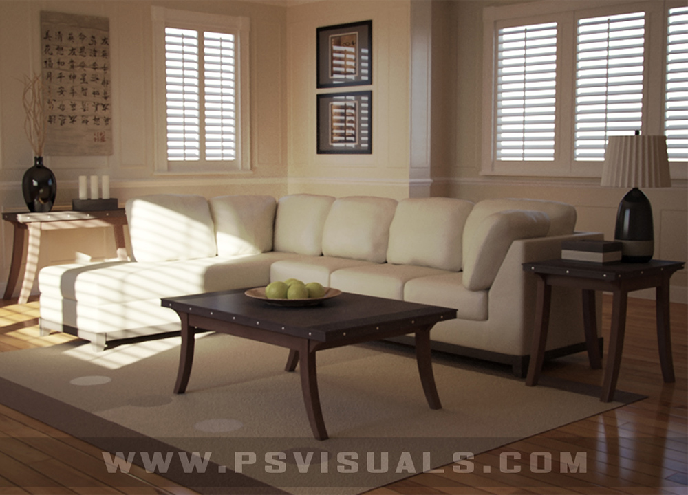 Psvisuals 3d visualization and content creation for Living room 3ds max